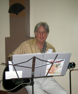 John Hendry provides musical entertainment