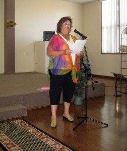 Nancy Turner reads History of AAUW